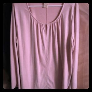 Tops - Pink suede like shirt